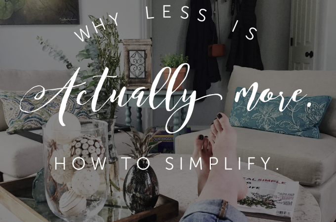Why Less is More