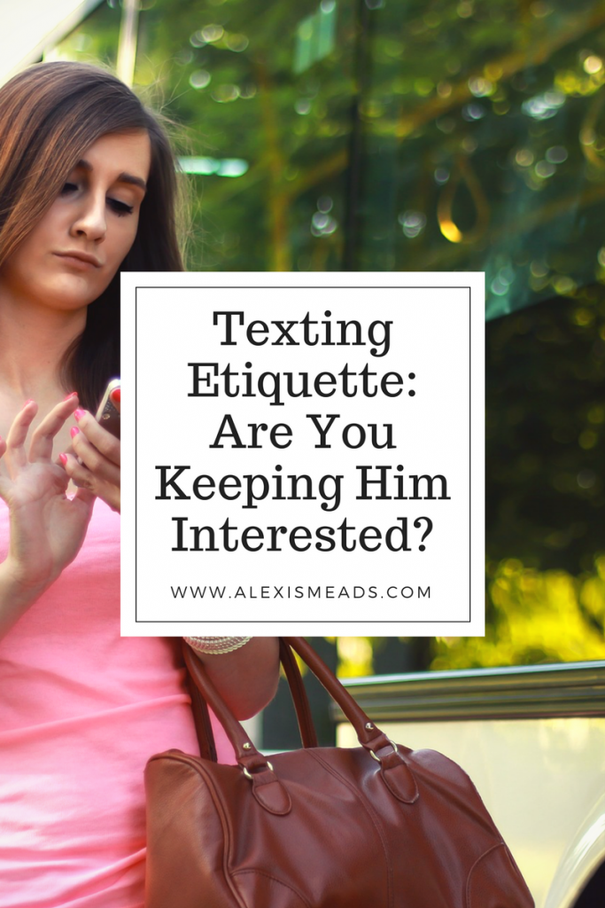 Texting and Dating Etiquette