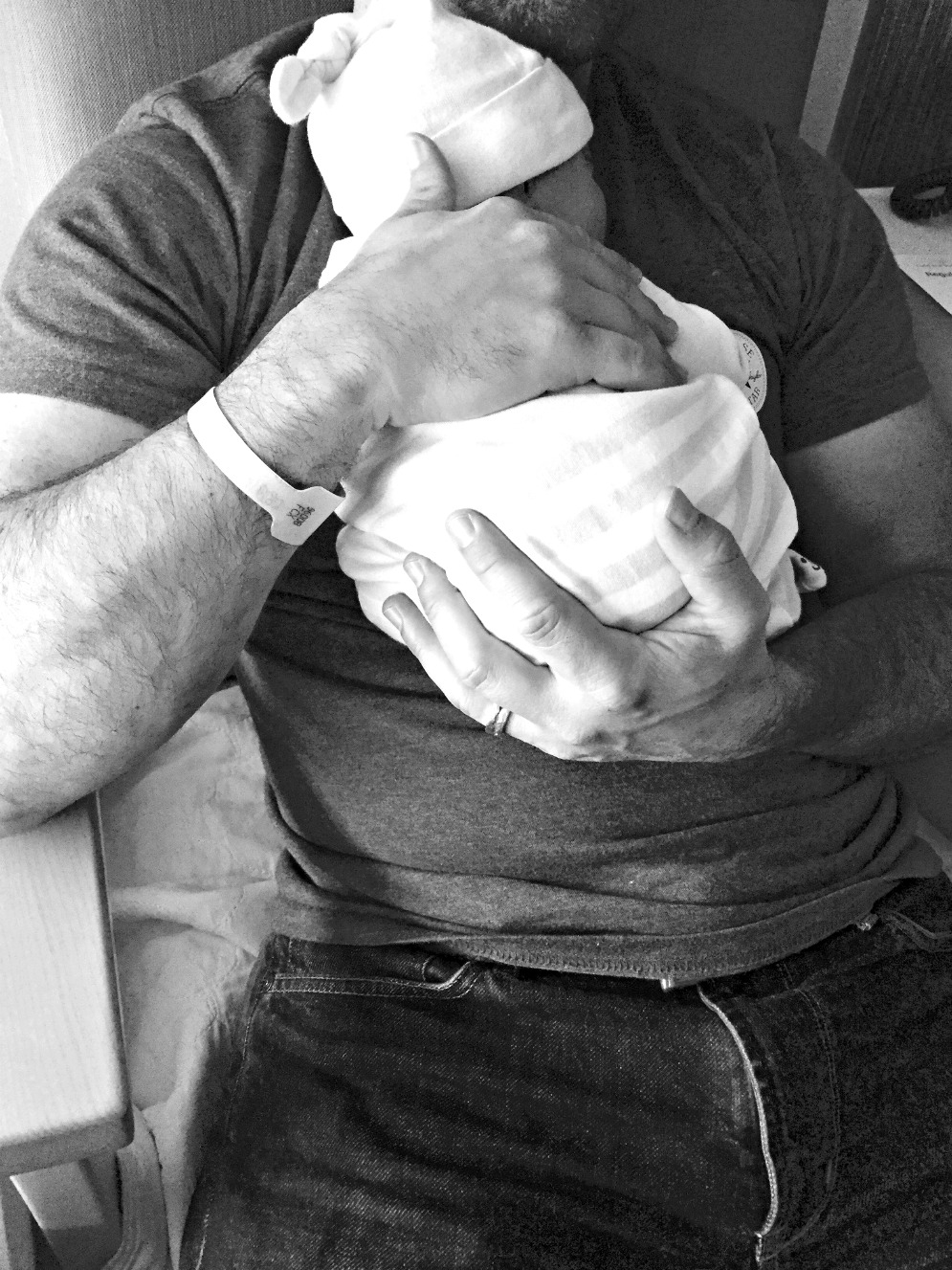 Kai First Day with Dad